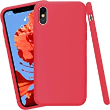 AOTESIER for iPhone X Case, [Silicone Soft Touch Series] Premium Soft Silicone Rubber Full-Body Protective Bumper Case Com...