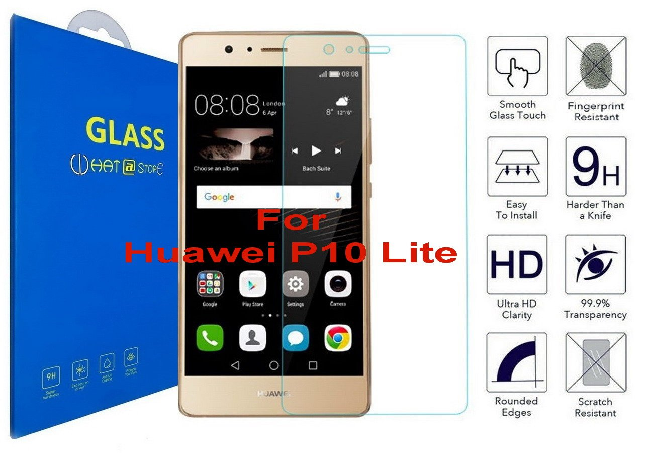 Huawei P10 Lite - Curvo 3D Cristal Templado Protector de Pantalla ...