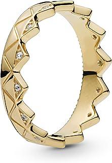 Pandora Shine Exotic Crown 重叠 戒指 透明 (Panora Shere)、立方氧化锆) 国内正品