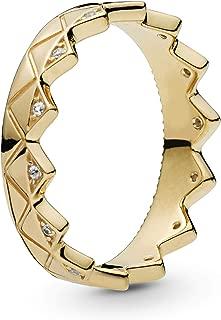 PANDORA Exotic Crown 18k Gold Plated PANDORA Shine Collection Ring, Size: EUR-50, US-5-168033CZ-50