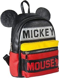 Mochila Casual Moda Mickey, Unisex Adultos, Negro (Negro), 11x25x22 cm (W x H x L)