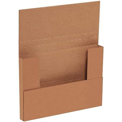 "Aviditi M961K Corrugated Easy-Fold Mailer, 9-5/8"" Length x 6-5/8"" Width x 1-1/4"" Height, Kraft (Bundle of 50)"