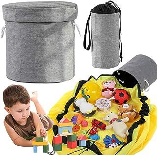 Smilerain 2個の おもちゃ収納マット 収納 レゴマット 子ども おもちゃ収納バケット ブロック収納マット プレイマット洗濯可能 お出かけに便利 多用途