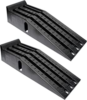 BISupply Vehicle Service Ramp Set – 6.3in Car Lift 2 Ton Heavy Duty Truck Ramps for Vehicle Maintenance, 2 Pack