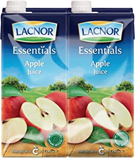 Lacnor Essentials Apple Juice - Pack of 4 Pieces (4 x 1 Liter)