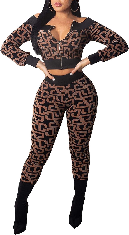 High Waisted Skinny Pants Transkuit Jogger Set Women 2 Piece Outfits Sweatsuit Set Off Shoulder Long Sleeve Crop Top
