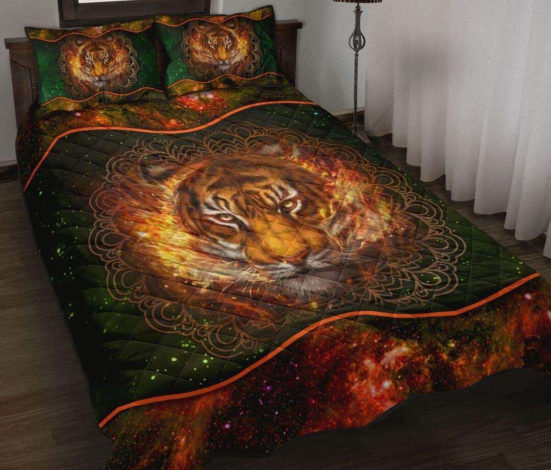 Personalized Tiger Quilt Sets King Twin Max 86% OFF Throw Queen Birthda Size Challenge the lowest price of Japan