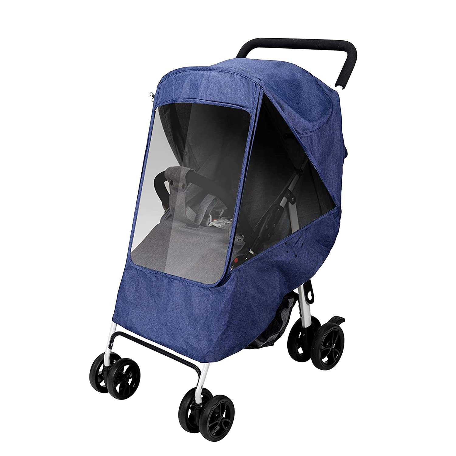 Gihims Universal Baby Stroller Accessories,Stroller Rain Cover & Mosquito Net,Waterproof,Windproof Protection,Travel Umbrella Cover for Most Strollers,Outdoor Use,Easy to Install and Remove(Blue)