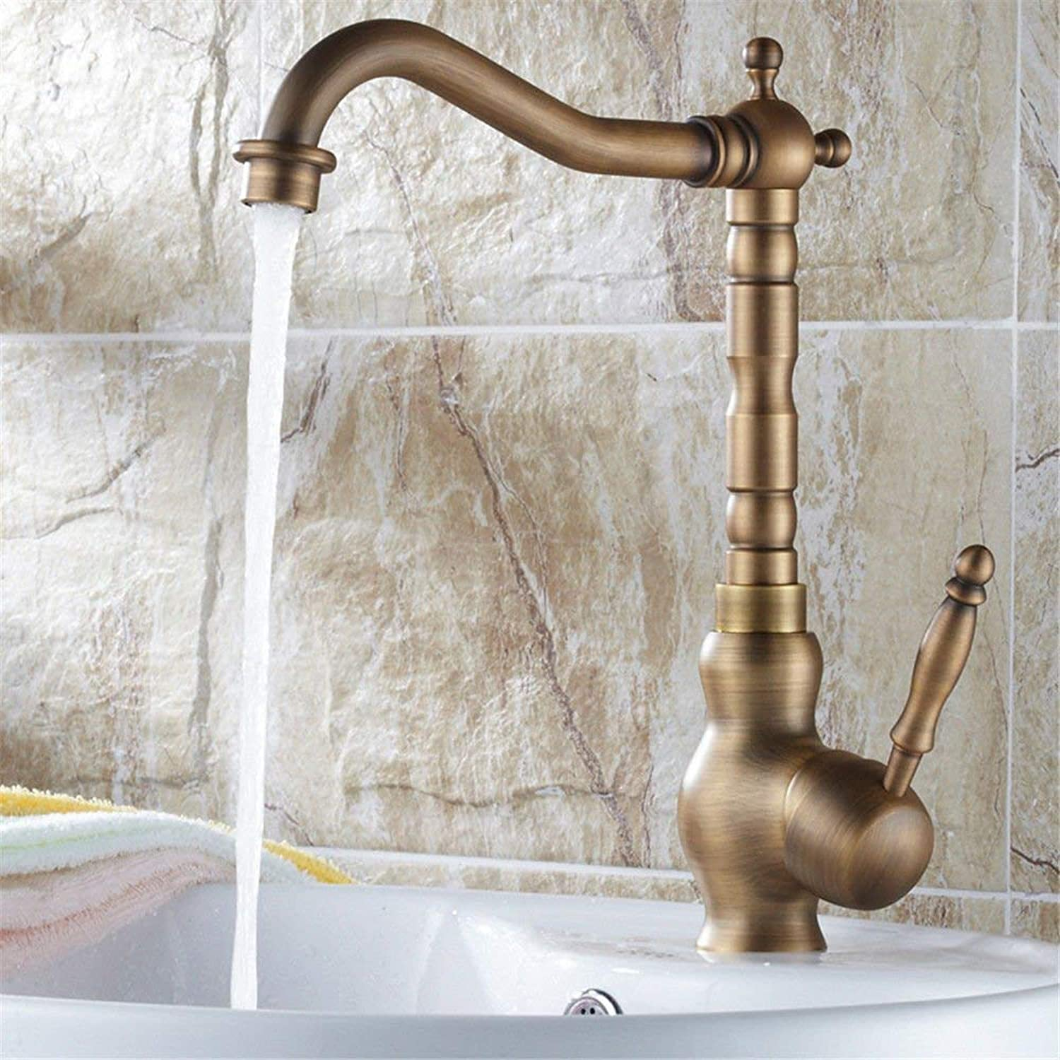 Oudan Kitchen Faucet Sink Mixer taps Kitchen Sink tap Solid Brass Sink Mixer hot and Cold Basin Mixer tap Swivel spout Sink Faucet (color   -, Size   -)