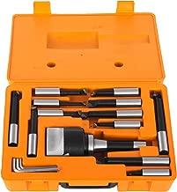 Mophorn Boring Head 3Inch R8 Shank Holder Boring Head Set with 3/4Inch Indexable Boring Bars 16 PCS Carbide Boring Head Tool Set