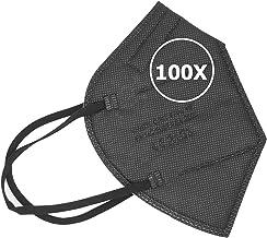 TBOC FFP2 Maskers Zwarte [Pack 100 Eenheden] Wegwerpmaskers Vijf Lagen [Niet Herbruikbaar]