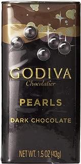 Godiva Dark Chocolate Pearls, 1.5-ounces (Pack of 6)