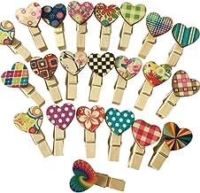 35 mm Pinzas de Madera de Color,Mini Pinzas para Manualidad 100 Pack Peque/ñas Pinzas Madera para Colgar Decorativas Fotograf/ías Pinzas Clip para Decoraci/ón de Boda Patry DIY 7