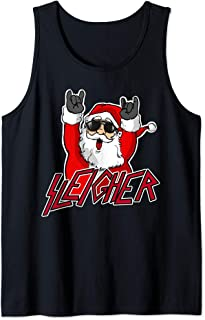 Sleigher Santa Claus Metal Christmas funny Hail Santa Tank Top