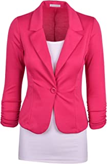 2716e7cba18 Auliné Collection Women s Casual Work Solid Color Knit Blazer