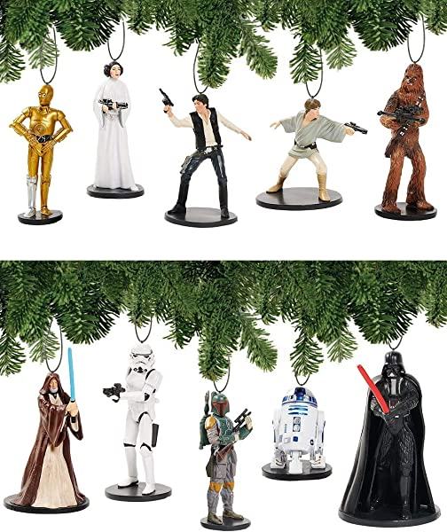 Disney Star Wars A New Hope Deluxe Holiday Ornament Decoration Set Of 10