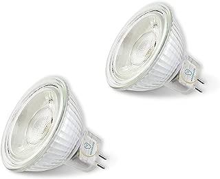 MR16 LED Bulbs, 3000K Warmwhite, 5W(50W Halogen Equivalent), DC/AC12V, 2-Pack (3000K, GU5.3)