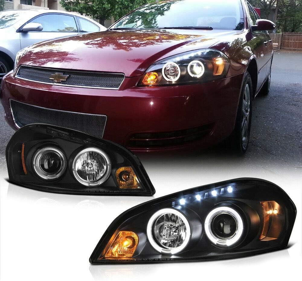 Herrdan forHalo Led Virginia Beach Mall Drl New sales Lamp Black Headlight Projector