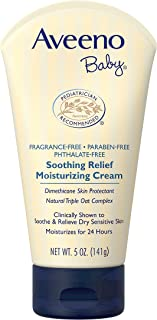 Aveeno Baby Soothing Relief Moisturizing Cream with Natural Oat Complex for Sensitive Skin, 5 oz