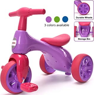 ChromeWheels Baby Balance Bike, Toddlers' Tricycle Walker with BB Sound for 18-36 Months