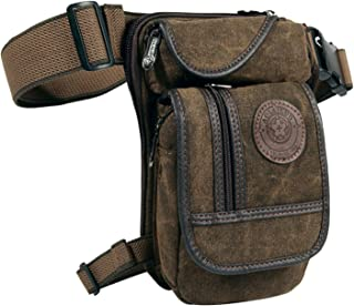 Egoodbest Canvas Tactical Military Waist Pack Pouch Outdoor Multi-pocket Thigh Bag