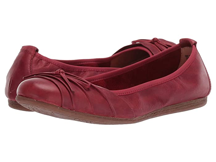 Born  Chelan (Red Full Grain Leather) Womens Flat Shoes