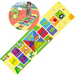 Ring Toss Games HUA Anti-slip And Waterproof Hopscotch Game Mat, Suitable For Children And Adults Digital Game Floor Mats,...