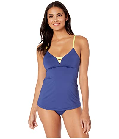 Seafolly In the Loop Multi Strap Trapeze Tankini Top (Blue Opal) Women