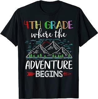 4th Grade Where The Adventure Begins Gift Teacher T-Shirt