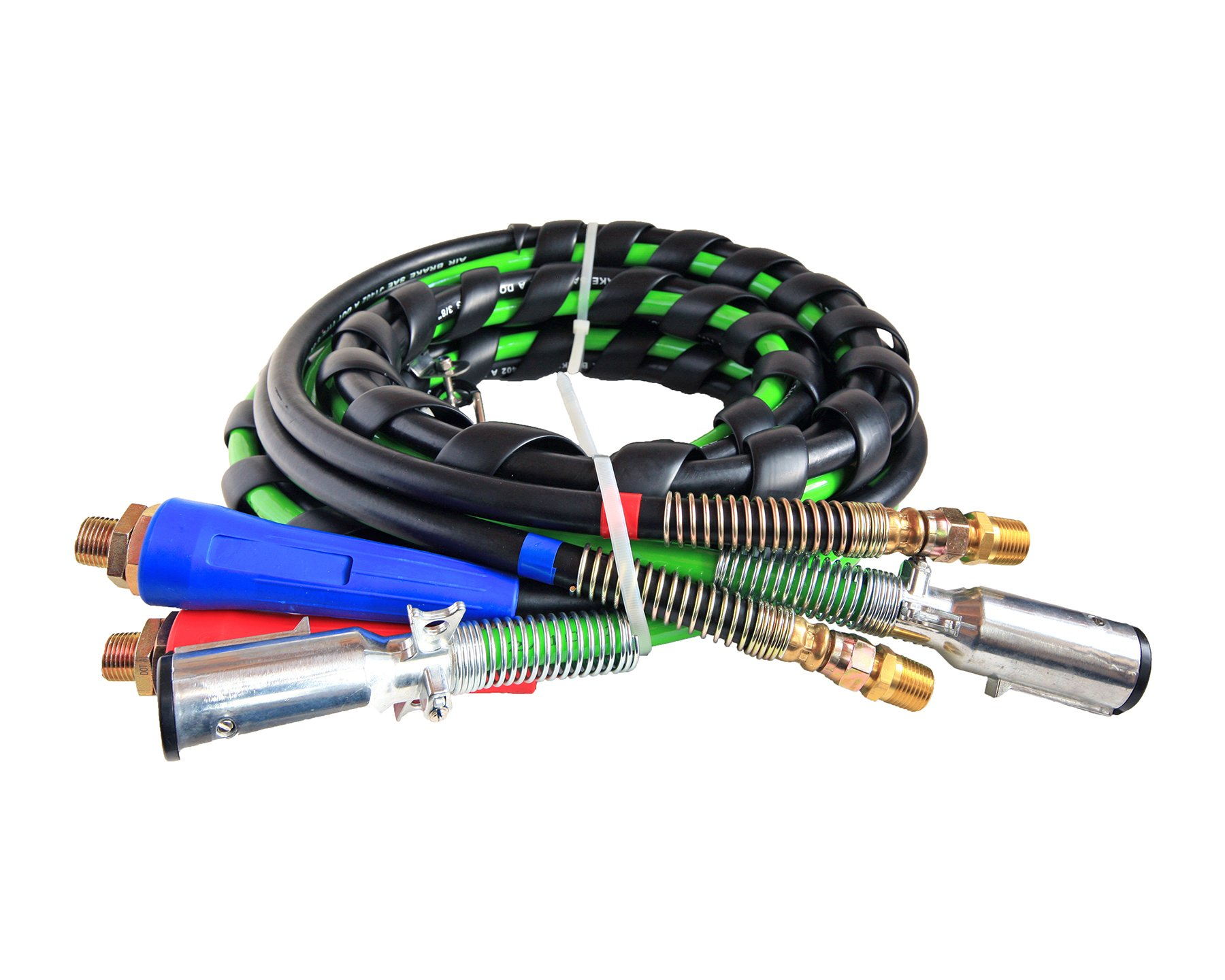 amazon.com: road king 3 in 1 wrap - 7 way truck and trailer electric cord  cable abs & air line hose assembly, 15' working length: automotive  amazon.com