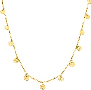 PURELEI ® Malihini Halsketting voor dames van roestvrij staal (goud en roségoud) met hanger (35/40 cm lengte, verstelbaar)...