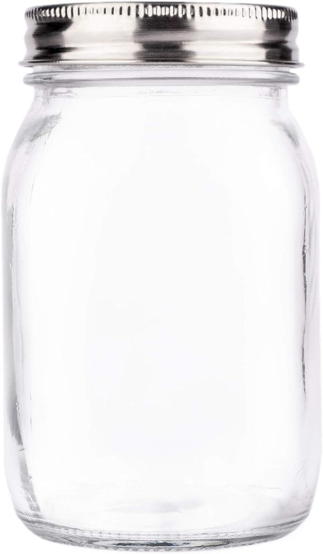 Premium Regular Mouth mart Mason Choice Jar 16 Clear oz Gla by Crystal Soul