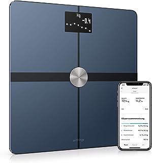 Withings Body - WLAN-Smart-Waage mit Körperzusammensetzungsfunktion, Messung von Körperfett, BMI, Muskelmasse, Wasseranteil, digitale Körperfettwaage, App-Sync via Bluetooth oder WLAN