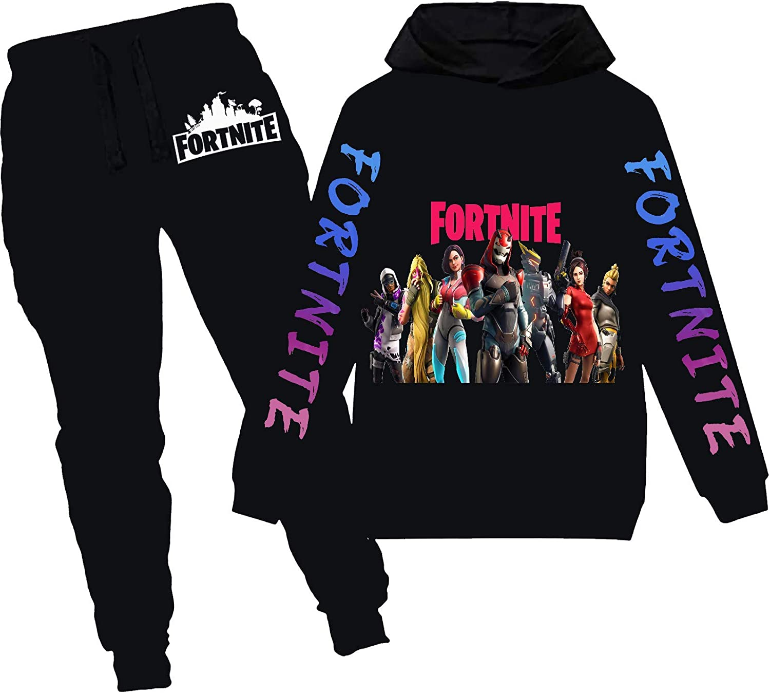 Boys Fortnite Hoodie and supreme Sweatpants Suit Graphic Game Piece 2 Cheap sale Pu