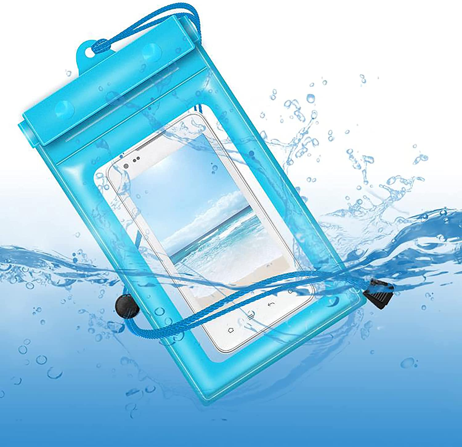 Waterproof Phone Pouch Floating, Universal Waterproof Case Compatible Underwater Dry Bag with Lanyard for iPhone Xs Max/XR/X/8/7 Plus Galaxy Pixel Up to 6.5