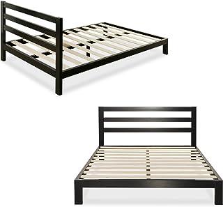 Zinus Arnav Modern Studio 10 Inch Platform 2000H Metal Bed Frame with Wooden Slat Support, Queen