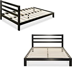 metal bed frame wooden slats