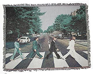 Beatles Tapestry, Abbey Road Art Wall Hanging Wall Tapestry Hippie Mandala Bohemian Curtain Bed Cover Sofa Towel Living Room Bedroom Space Decor-A 47x59inch(120x150cm)