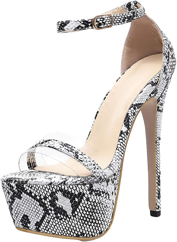 Heels Black Women High Heel Snake Sandals Fine Heel Sexy Peep High Heels Sandals