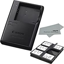 Canon CB-2LD CB-2LF Charger for Canon NB-11L NB-11LH Li-ion Battery compatible with Canon PowerShot A2300 IS A2400 IS A2500 A2600 A3400 + Bonus Items!