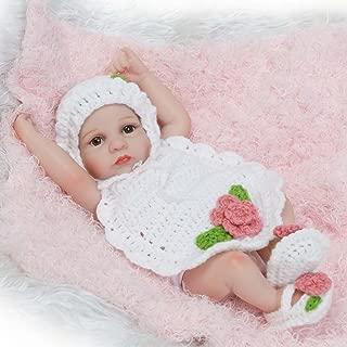 TERABITHIA 10inch Mini Cute Lifelike Silicone Vinyl Full Body Reborn Baby Dolls Washable for Girl
