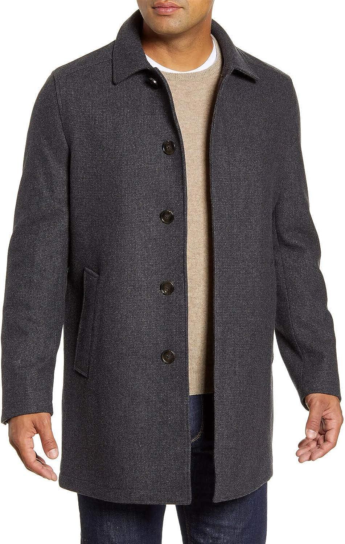 John W. Nordstrom Mens Russell Wool Blend Coat Small Grey