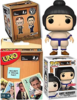 Big Suit Andy Sumo Bernard Figure Character Pop! Vinyl The Office Exclusive TV Show Collectible Bundled with NBC Dunder-Mi...