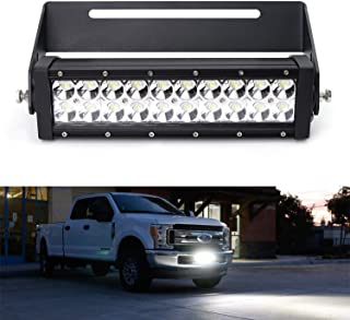 iJDMTOY Lower Insert 11-Inch 60W LED Light Bar Kit For 2017-up Ford F-250 F-350 F-450 Super Duty, Includes High Power Double Row LED Lightbar, Lower Insert Mounting Bracket & On/Off Switch Wiring Kit
