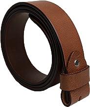 almela Herren und Damen g/ürtel ohne Schnalle Austauschbare Schnallen Echtes Leder 3,5 cm und 4 cm 35 mm und 40 mm Druckkn/öpfe.