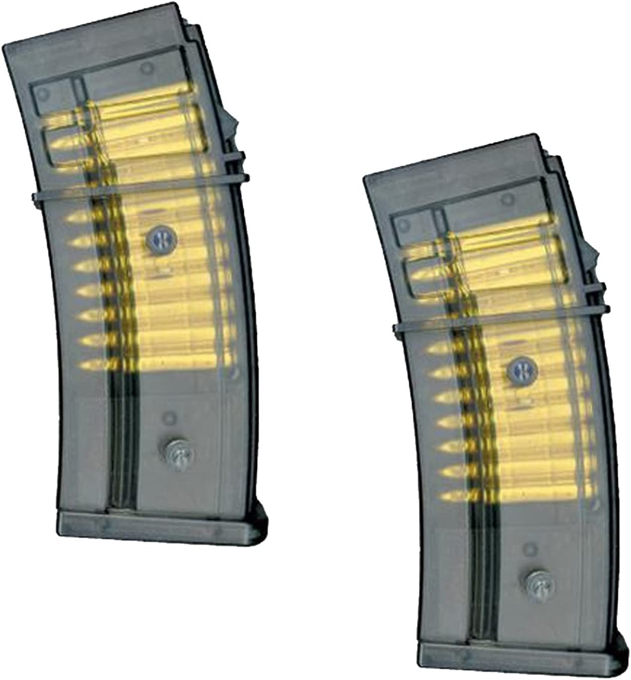 UKARMS (2X) Double Eagle M85P Clip Magazine for G36 M85 AEG Airs
