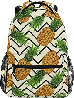 Hiker Backpack Pineapple Dessert Appetizer Fruit Juice Crop Fashion Backpack For Women Man Backpack Lightweight With Zipper Pocket Sports Athletic School Travel Gym Cinch Sack