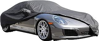 PROTEKZ Custom Car Cover for Porsche 997 S C4 C4S Turbo 2004 2005 2006 2007 2008 2009 2010 2011 2012 (Breathable Dust Series Black)