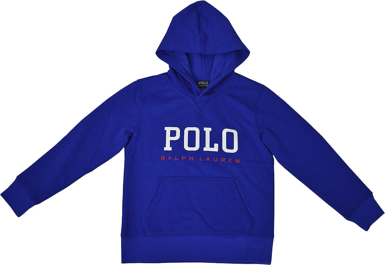 Polo Ralph Lauren Boys' Logo Print Fleece Hoodie, Blue