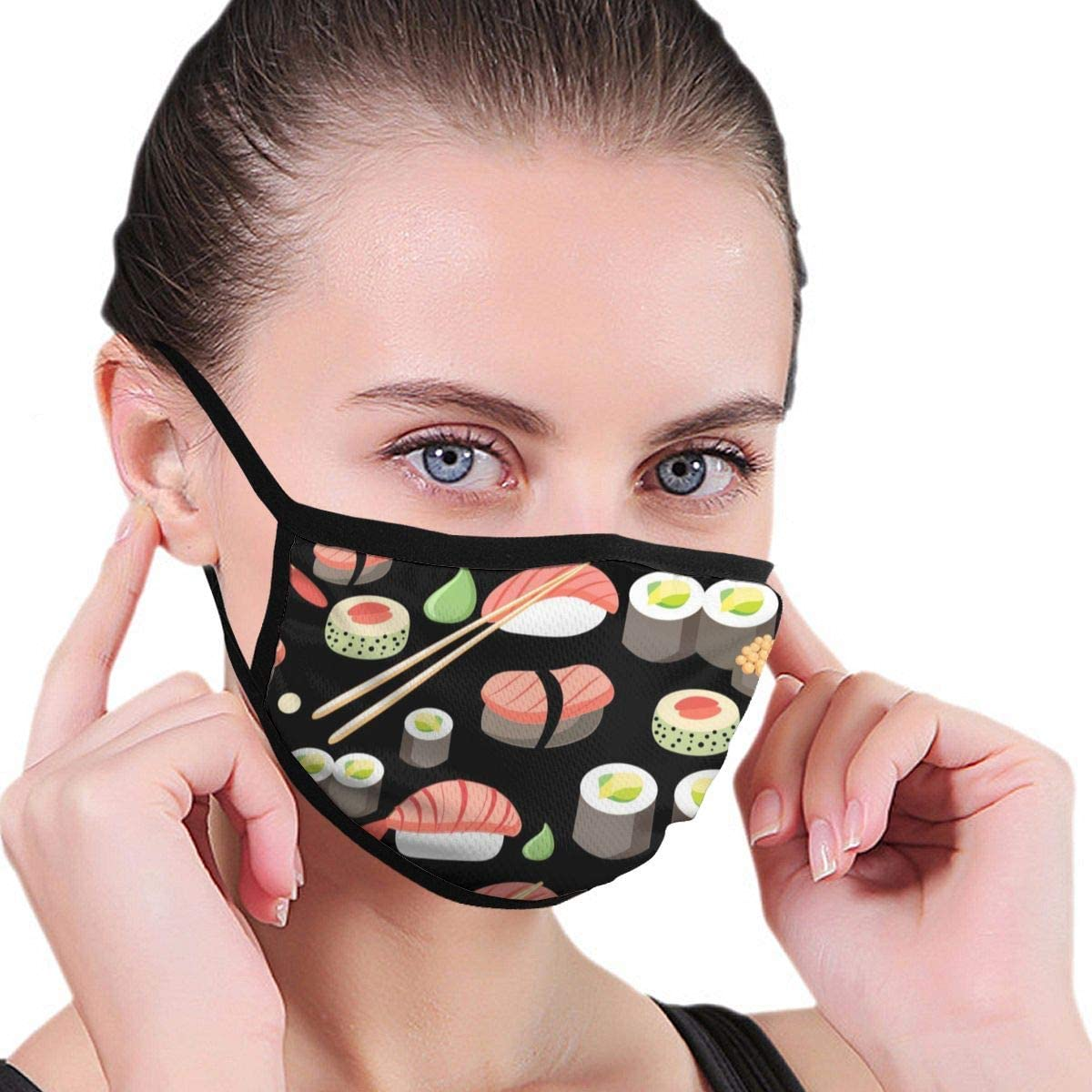 Ladion Day of The Dead and HalloweenMen's Women's Print Warm Washable Reusable Ear Warmer Neck Warmer Construction Mouth Wear